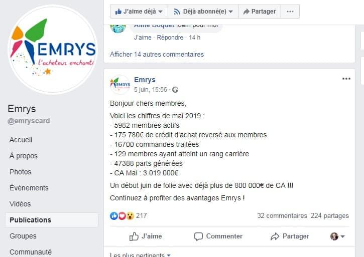 Crédit d'achat et témoignages Emrys